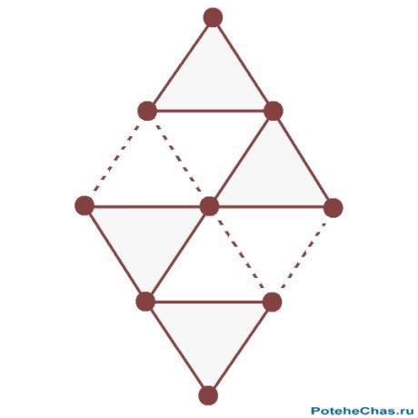 На рисунке изображена своеобразная кристаллическая решетка, атомы которой соединены между собой связями и образуют...
